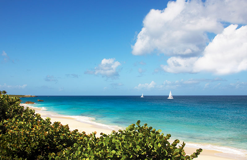 Beach-Sailboats- Anguilla